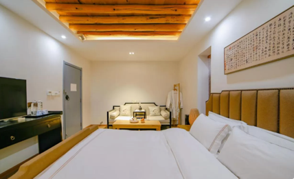 A picture containing indoor, ceiling, wall, bed